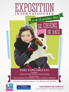 RDV le 11 et 12 octobre 2014 au parc d'expositions d'Orléans pour l'exposition canine internationale